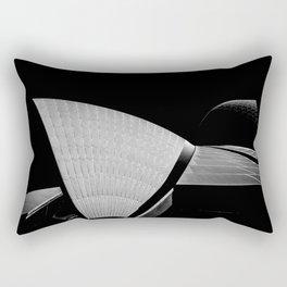 Sydney Opera House Sails Detail Mono Rectangular Pillow