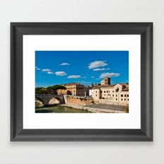 The Tiber Island in Rome Framed Art Print