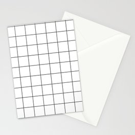 Square Grid Pattern Stationery Cards