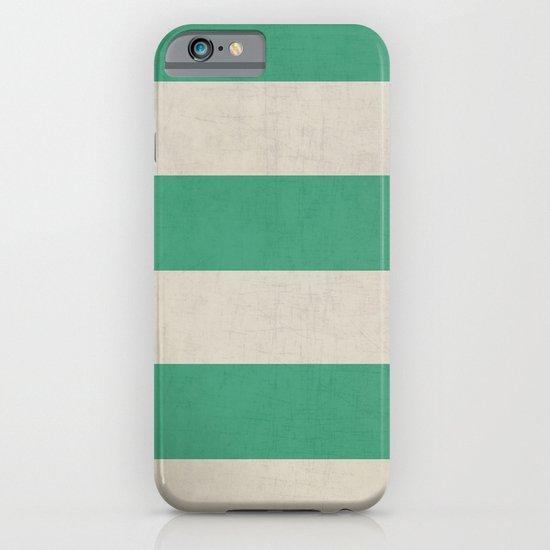 vintage emerald stripes iPhone & iPod Case