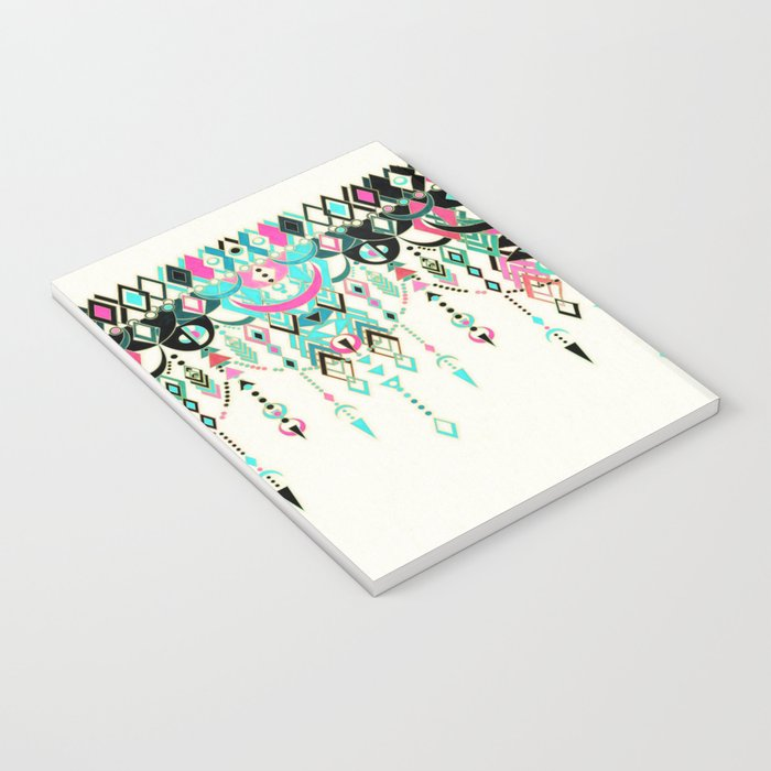 Modern Deco in Pink and Turquoise Notebook
