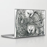 owls Laptop & iPad Skins featuring Owls by Irina Vinnik