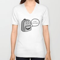 backpack V-neck T-shirts featuring Backpack mate by TroyH