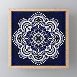 Deep Blue Mandala Portal Framed Mini Art Print