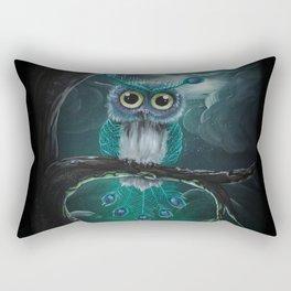 Peacock owl Rectangular Pillow