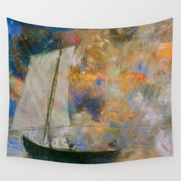 Flower Clouds - Odilon Redon Wall Tapestry