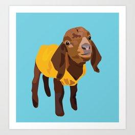 Goaty McGoatface - yellow Art Print
