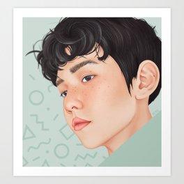 byun baekhyun ~ EXO lucky one Art Print