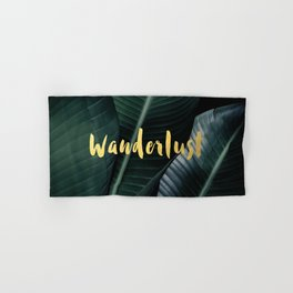 Wanderlust gold - banana leaf Hand & Bath Towel