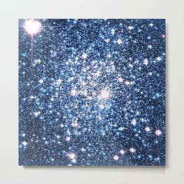 Galaxy Stars: Riverside Blue Metal Print