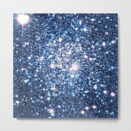Galaxy Stars: Riverside Blue Metal Print