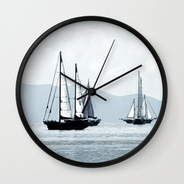 sailboats Wall Clock