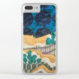 Deserted Stormscape Clear iPhone Case
