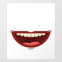 Bye Bye Braces Off Teeth Gift graphic Art Print