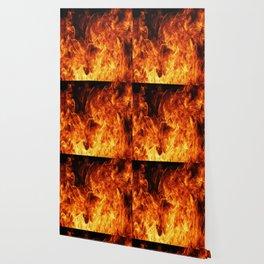 Orange flame Wallpaper