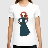 merida T-shirts featuring Merida from the Brave by Alice Wieckowska