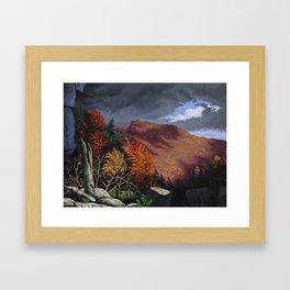 Passing storm, Thacher Park, Albany Framed Art Print
