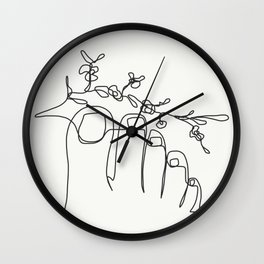 TUMBLR FEET with flowers Wall Clock