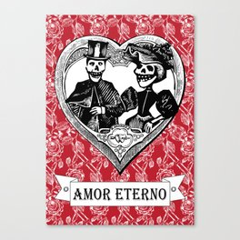 Amor Eterno | Eternal Love | Red and Black Canvas Print