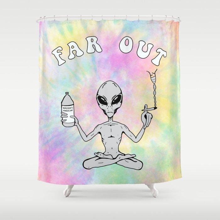 Far Out Alien (Pastel) Shower Curtain