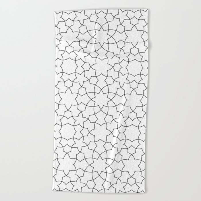 Minimalist Geometric 101 Beach Towel