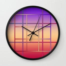 Geometric patchwork Wall Clock