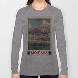 Vintage poster - Montana Long Sleeve T-shirt