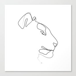 """ Animals Collection "" - Tiger One Line Art Canvas Print"