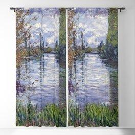 Gustave Caillebotte - Le Petit bras de la Seine en automne Blackout Curtain