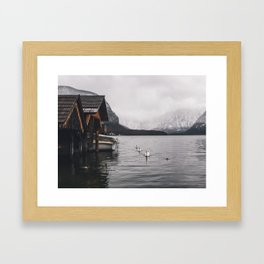 Lake and mountains Framed Art Print