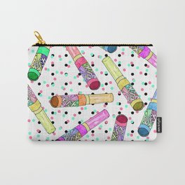 Retro 80's 90's Neon Colorful Push Candy Pop Carry-All Pouch