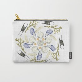 Tide Pool Beach Mandala 1 - Watercolor Carry-All Pouch