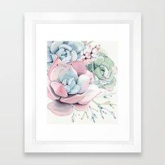Garden of Succulents Framed Art Print