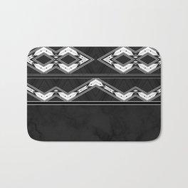 Aztec Black and White Tribal Design Bath Mat