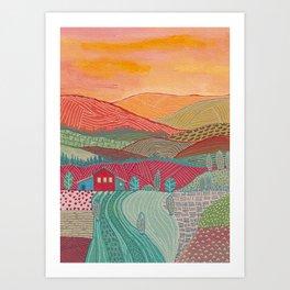 Warm landscape Art Print