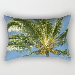 Hawaiian Coconut Palm Tree Rectangular Pillow