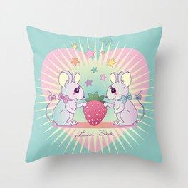 cute mice Throw Pillow