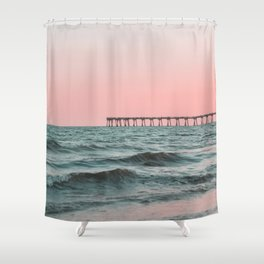 Pink Ocean Shower Curtain