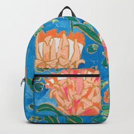 Four Orange Proteas Backpack