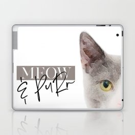 cat meow&purr Laptop & iPad Skin