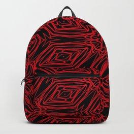 Black and red geometric diamonds 4999 Backpack
