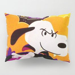 Snoopy Dracula Halloween ILustration Pillow Sham