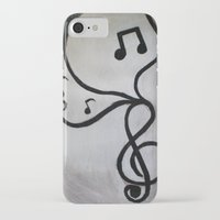music notes iPhone & iPod Cases featuring Music Notes by S. Vaeth