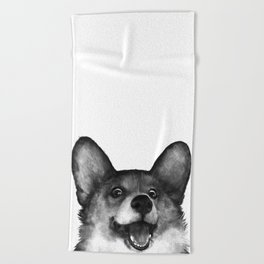 Corgi Beach Towel
