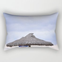 palm tree on the beach and in the sky, travel for leisure, Mallorca and enjoy Rectangular Pillow