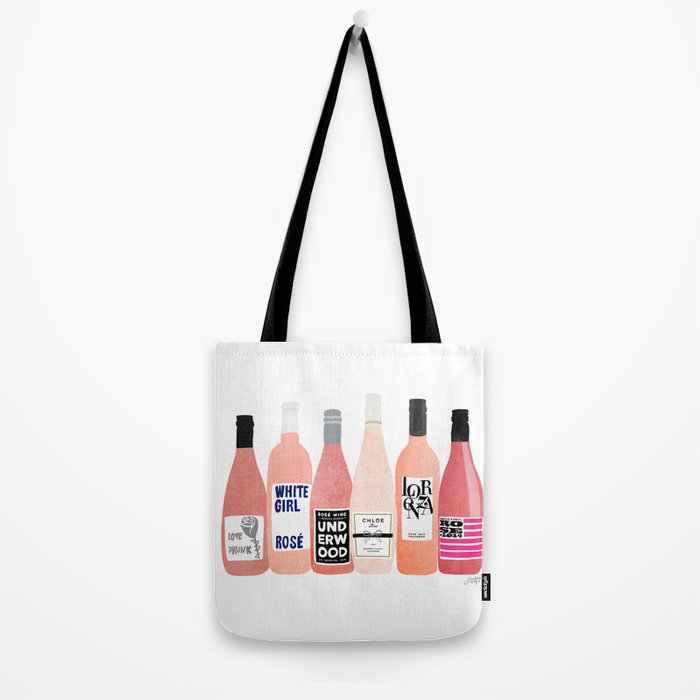 Rose Bottles Tote Bag
