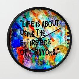 Crayon Box 2 Wall Clock