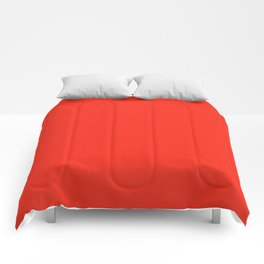 Solid Bright Fire Engine Red Color Comforters