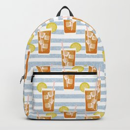 ice sweet tea summer southern stripes food fight apparel and gifts Backpack