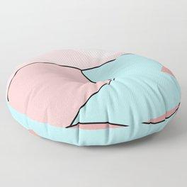 Happy Place - Blue Blush Floor Pillow
